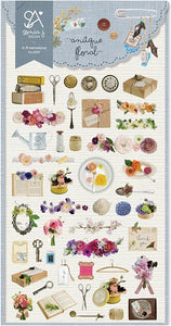 02029 Antique Floral Sticker-12