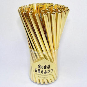 21227 GOLDEN PENTAGON PENCILS-60