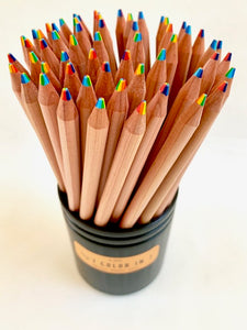 21440  6-IN-1 COLORS WOOD PENCILS-60