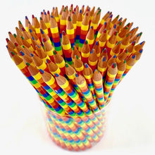 Load image into Gallery viewer, 21442 RAINBOW 4-in-1 COLORS PENCILS-100