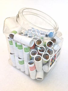 21603  12 mini pencils in tube in display tub-72