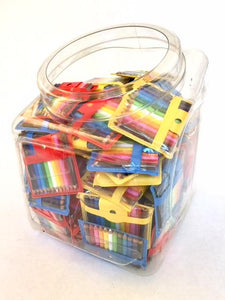 21613  12 mini pencils in pouch in display tub-100