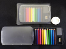 Load image into Gallery viewer, 22134 12 mini pencils in plastic case set-Clear-1