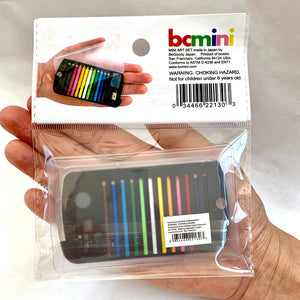 22138 MINI PENCILS IN PLASTIC CASE IN RETAIL PACKAGE-Black-1