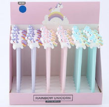 Load image into Gallery viewer, 22343 UNICORN RAINBOW TAIL GEL PEN-36