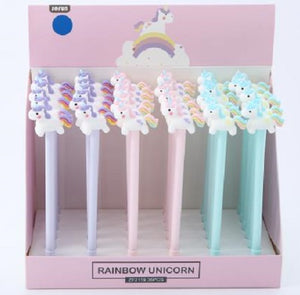 22343 UNICORN RAINBOW TAIL GEL PEN-36