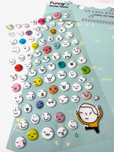 Load image into Gallery viewer, 30284 Faces Puffy Stickers-12