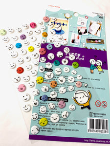 30284 Faces Puffy Stickers-12