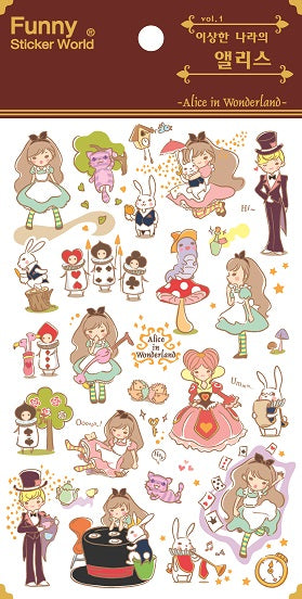 31465 ALICE IN WONDERLAND PVC Sticker-12