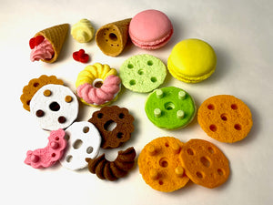 380121 FRENCH PASTRY erasers-30