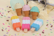 Load image into Gallery viewer, 380191 IWAKO ICE CREAM BAR ERASERS-30