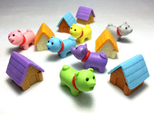 Load image into Gallery viewer, 38029 IWAKO DOG HOUSE ERASERS-6 NEW COLORS-60