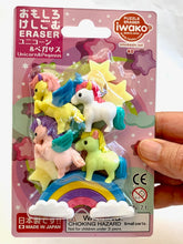 Load image into Gallery viewer, 382931 NEW IWAKO Unicorn & Pegasus Eraser Card-Single