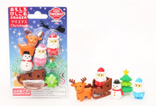 Load image into Gallery viewer, 38304 IWAKO CHRISTMAS ERASER CARDS-10 CARDS