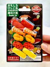 Load image into Gallery viewer, 38306 IWAKO SUSHI 10 ERASER CARDS-DISCONTINUED