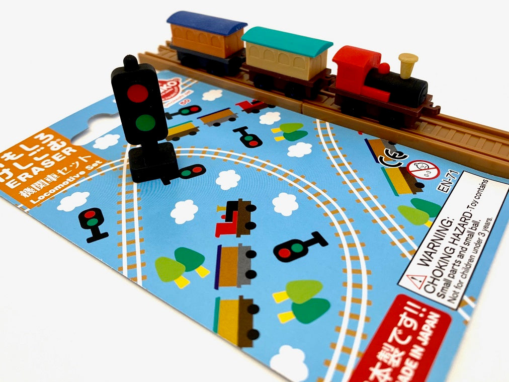 383231 IWAKO TRAIN ERASER CARD-SINGLE