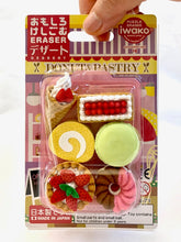 Load image into Gallery viewer, 38347 IWAKO FRENCH PASTRY ERASER CARD-10 CARDS