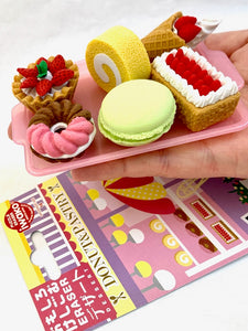 38347 IWAKO FRENCH PASTRY ERASER CARD-10 CARDS