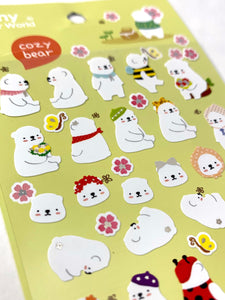 40573 COZY BEAR STICKERS -12