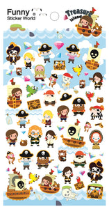 40665 TREASURE ISLAND PUFFY STICKER -12