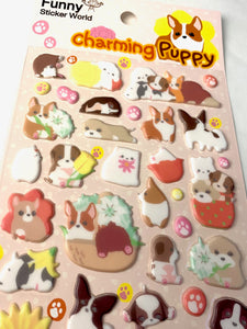 40795 CHARMING PUPPY PUFFY STICKERS -12