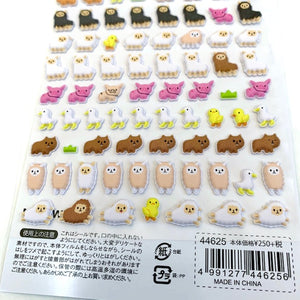 44625 LLAMA PUFFY PETIT MOTCHIRI SEAL STICKERS -10