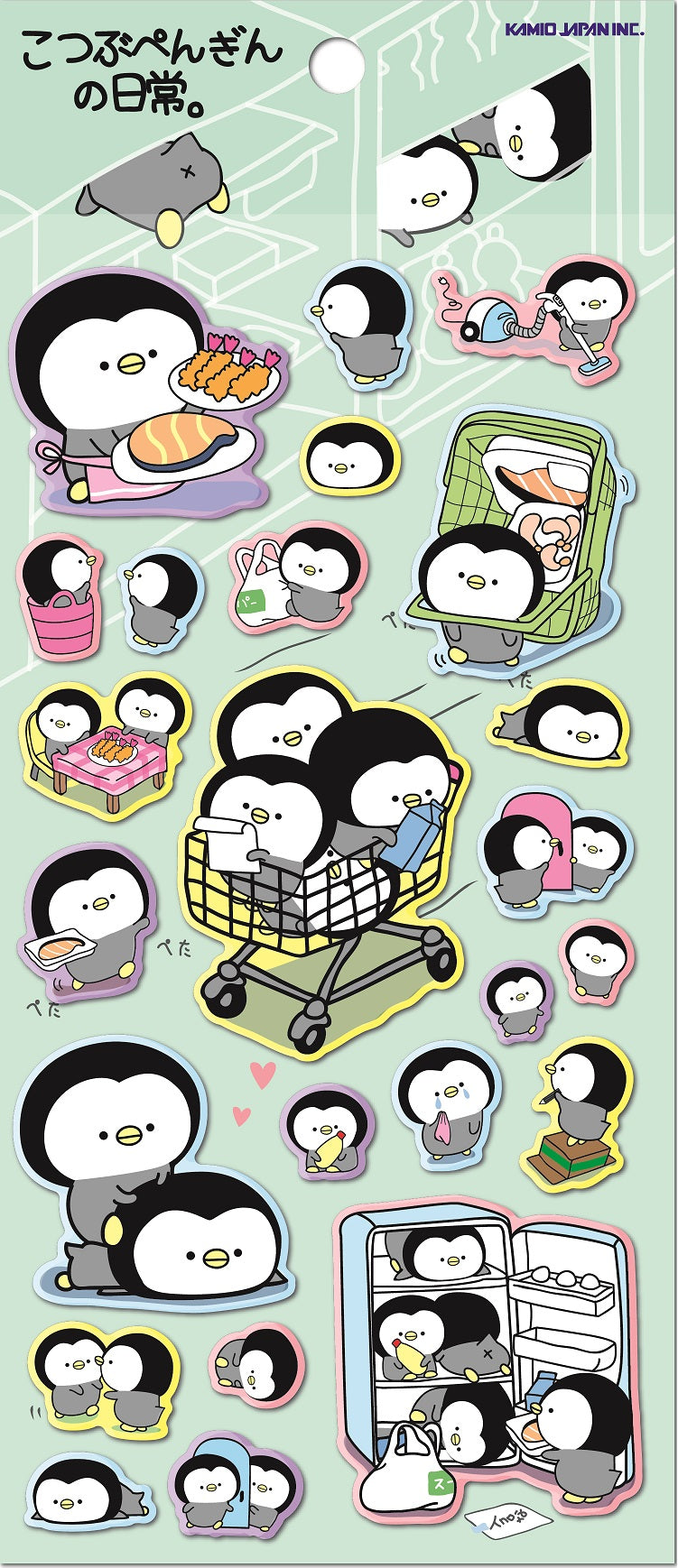 46382 KAMIO PENGUIN PUFFY STICKERS -10