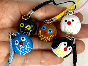 70673 OWL BRASS BELL IN 5 COLORS-10