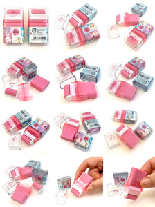 71401 KAMIO ROLLER SCENTED ERASER-PINK-WHITE MIMMY RABBIT-10 pieces
