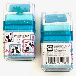 71405 KAMIO ROLLER SCENTED ERASER-BLUE-SUGARY RIBBON-10 pieces