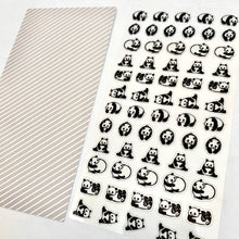 Load image into Gallery viewer, 77386 PANDA CLEAR STICKER-10