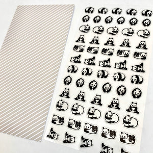 77386 PANDA CLEAR STICKER-10