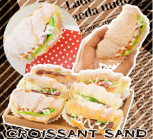 Load image into Gallery viewer, 83122 SUGAR CROISSANT SANDWICH SQUISHY-Slow-4.25 inch-6