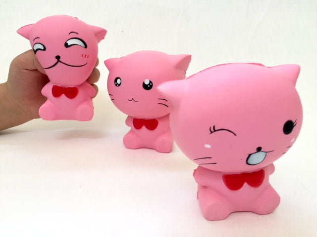 83187 PINK CAT SQUISHY. Slow and soft-4.5 inch-6