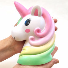 Load image into Gallery viewer, 83297 JUMBO UNICORN HEAD SQUISHY-DISCONTINUED