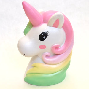 83297 JUMBO UNICORN HEAD SQUISHY-DISCONTINUED