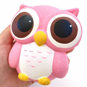 83311 SMALL PINK OWL SQUISHY-slow soft-10
