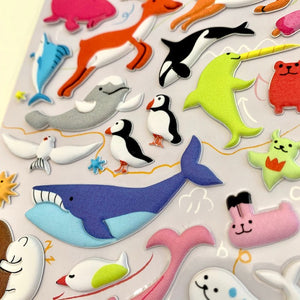 85035 ANIMAL PUFFY STICKER-10