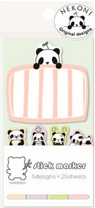 85161 PANDA IN BED STICKY NOTEPAD-10