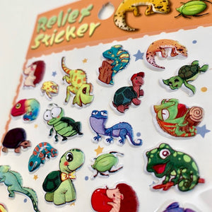 85340 REPTILE PUFFY STICKER-DISCONTINUED