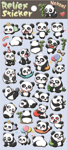 85341 PANDA PUFFY STICKER-10