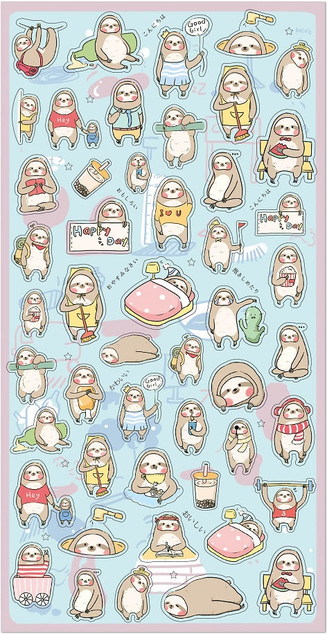 85803 Sloth Gel Sticker-10