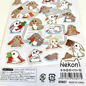 85807 RABBIT FLAT STICKERS-10