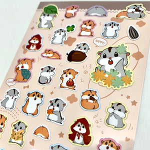 85808 HAMSTER FLAT STICKERS-10