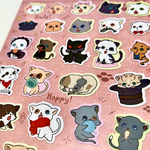 85812 CAT FLAT STICKERS-10