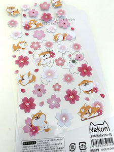 85919 SAKURA & DOG FLAT STICKERS-10