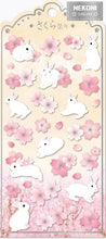 Load image into Gallery viewer, 85920 SAKURA RABBIT FLAT STICKERS-10