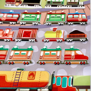 85937 TRAINS PUFFY STICKERS-10