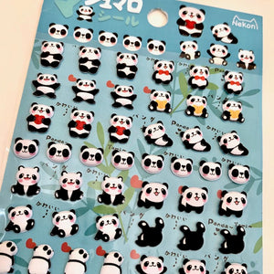 85949 PANDA TINY PUFFY STICKERS-10