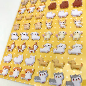 85980 PUPPY TINY PUFFY STICKERS-10